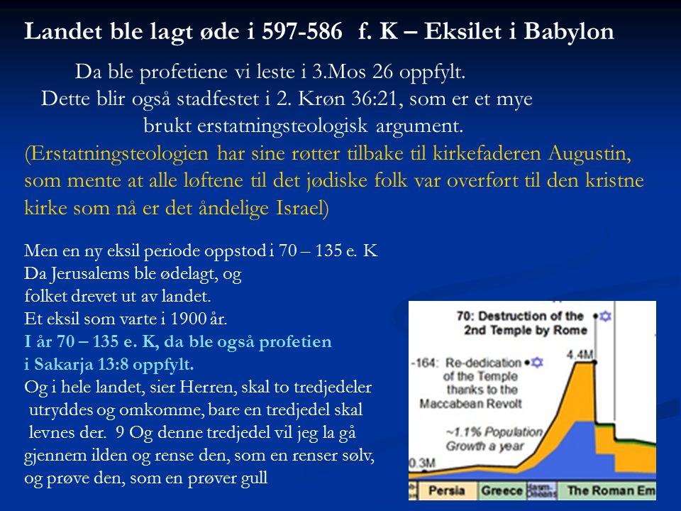 Landet ble lagt øde i 597-586 f. K – Eksilet i Babylon