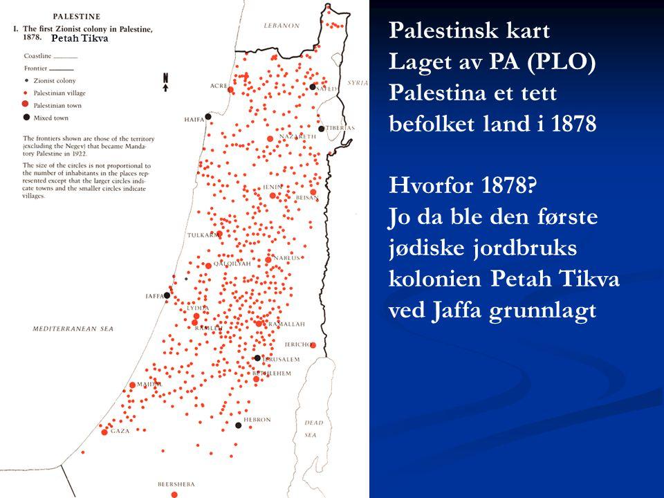 Palestina et tett befolket land i 1878