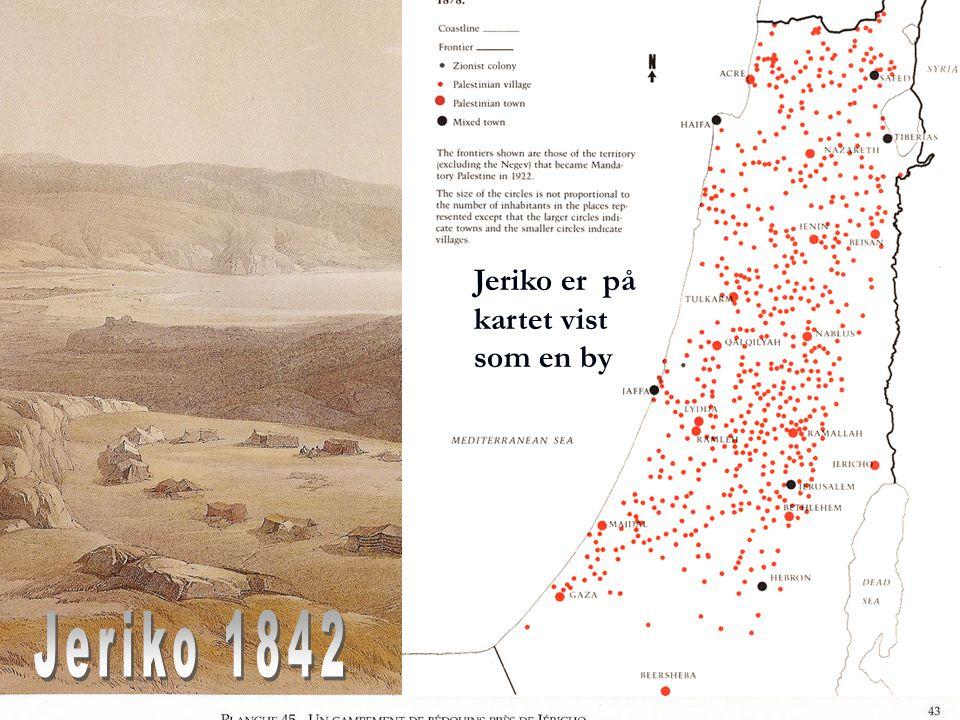 Jeriko er på kartet vist som en by Jeriko 1842