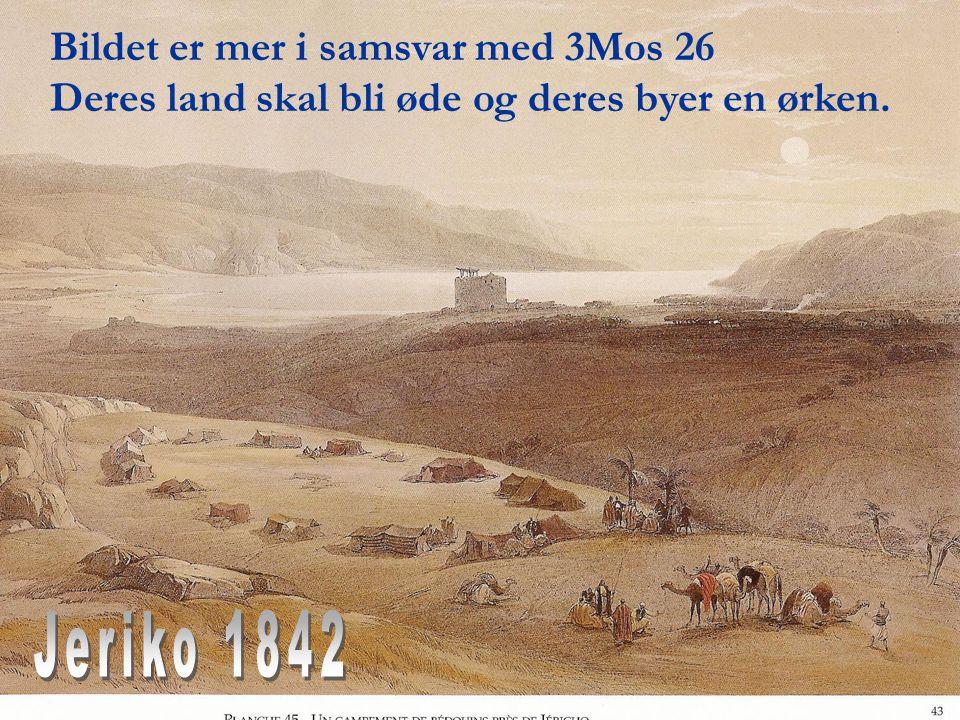 Jeriko 1842 Bildet er mer i samsvar med 3Mos 26