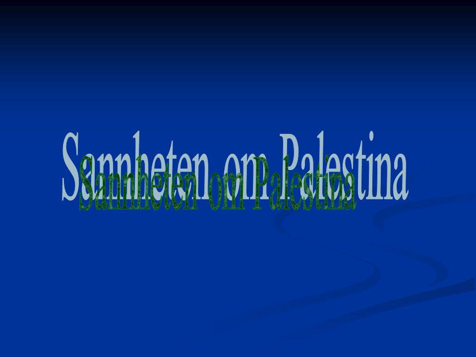 Sannheten om Palestina