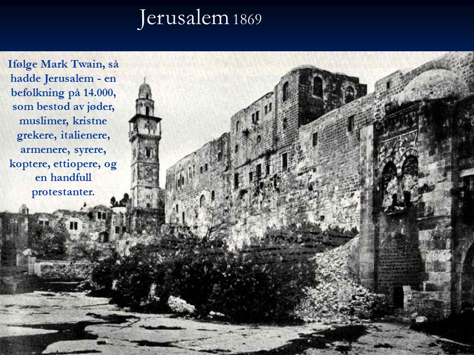 Jerusalem 1869