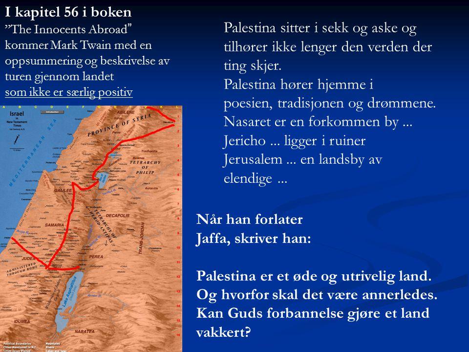 Palestina hører hjemme i poesien, tradisjonen og drømmene.