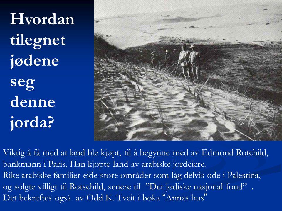 Hvordan tilegnet jødene seg denne jorda