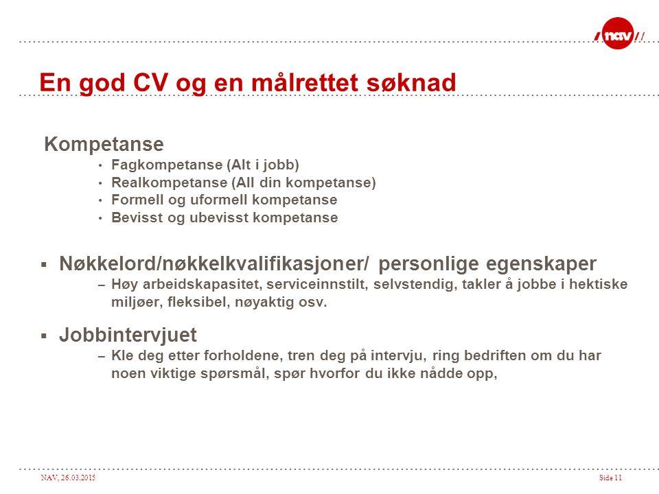 En god CV og en målrettet søknad