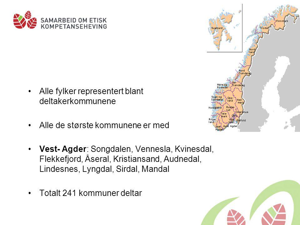 Alle fylker representert blant deltakerkommunene
