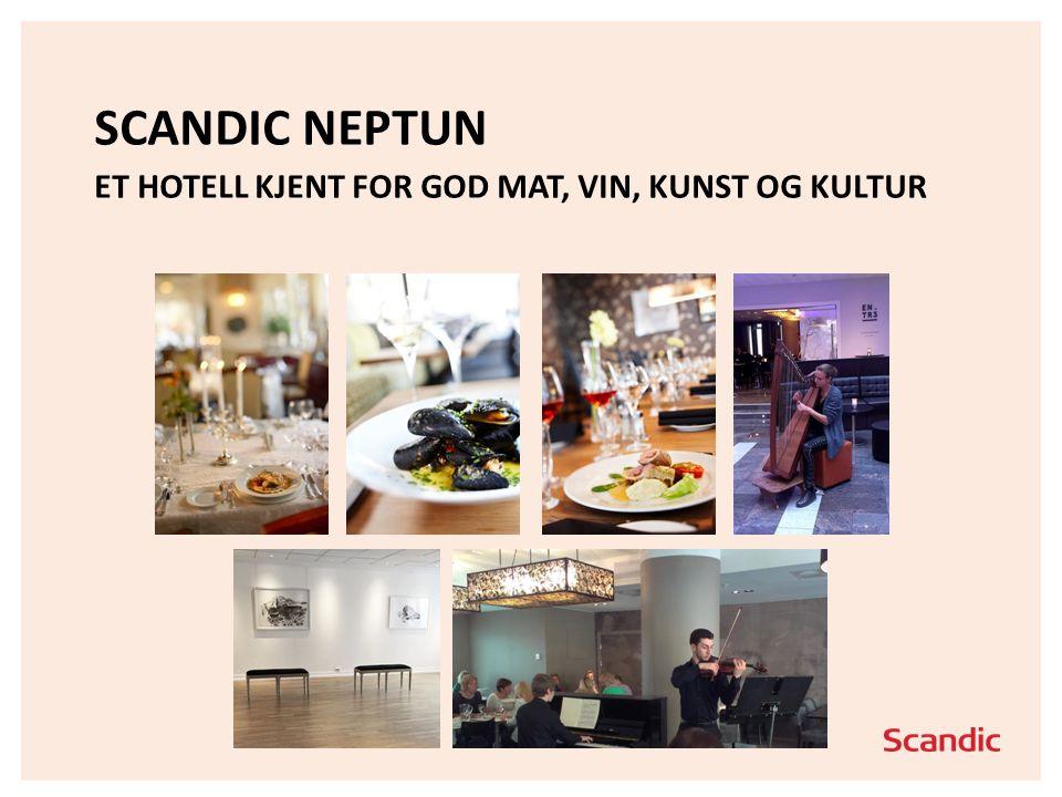 Scandic Neptun Et hotell kjent for god mat, Vin, Kunst og kultur