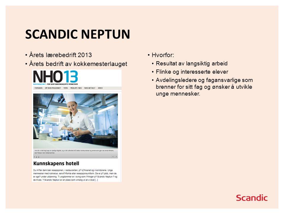 Scandic Neptun Årets lærebedrift 2013
