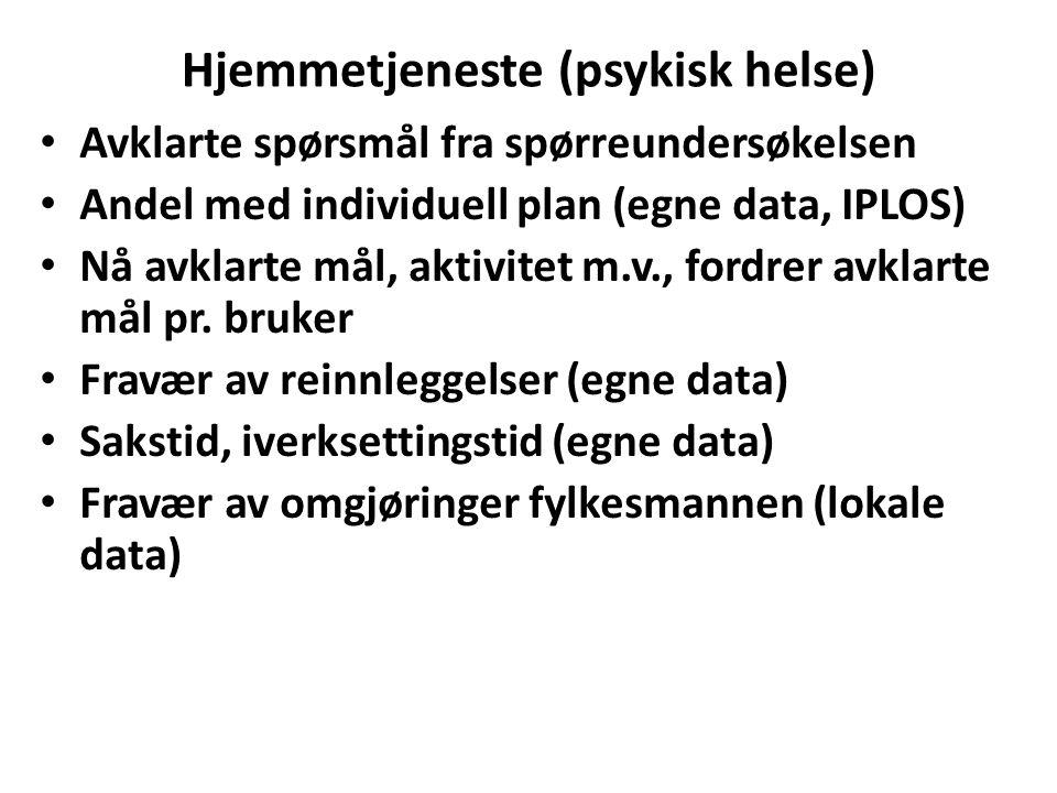 Hjemmetjeneste (psykisk helse)