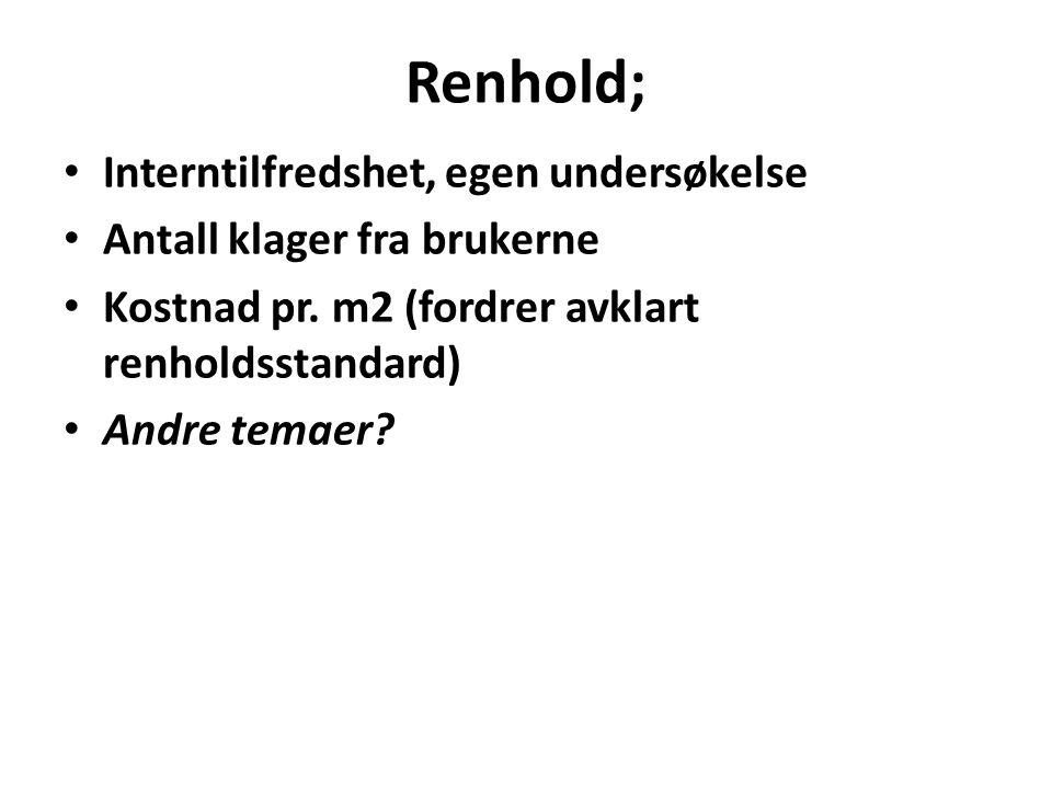Renhold; Interntilfredshet, egen undersøkelse