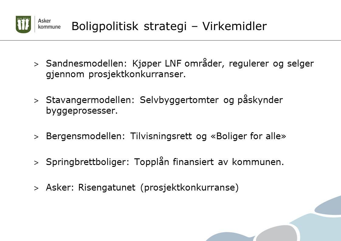 Boligpolitisk strategi – Virkemidler