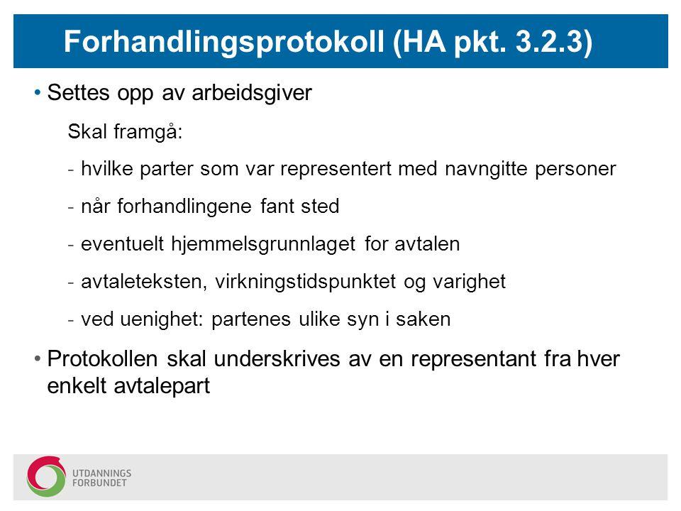 Forhandlingsprotokoll (HA pkt. 3.2.3)