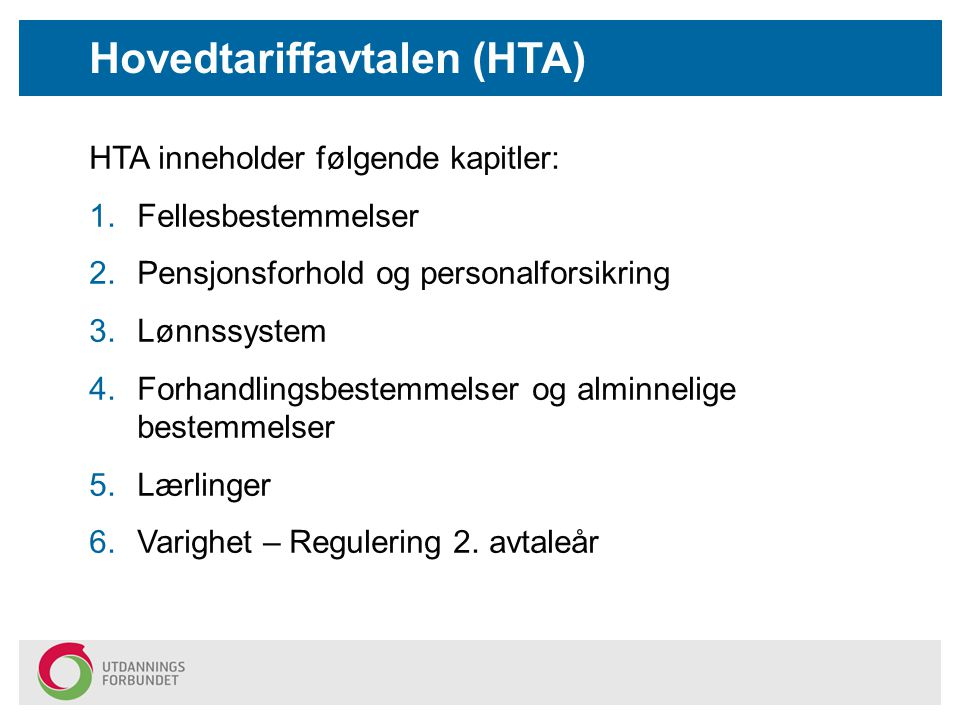 Hovedtariffavtalen (HTA)