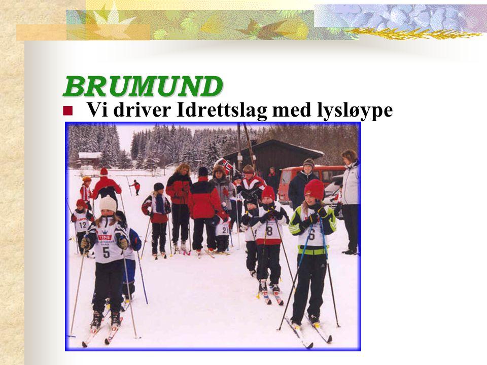 BRUMUND Vi driver Idrettslag med lysløype