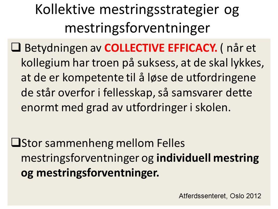 Kollektive mestringsstrategier og mestringsforventninger
