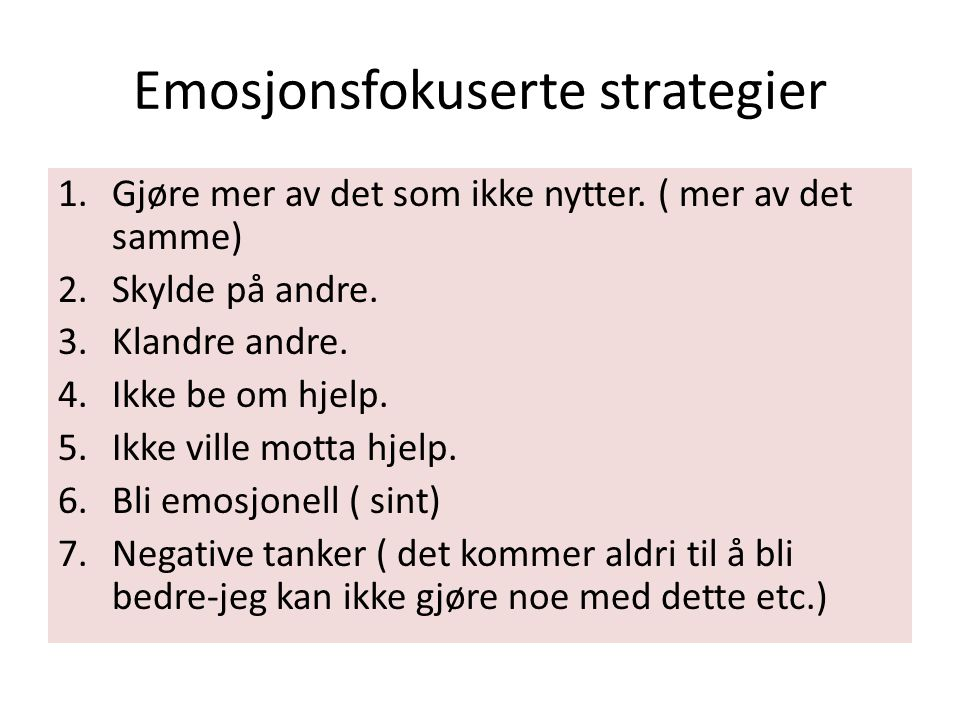 Emosjonsfokuserte strategier