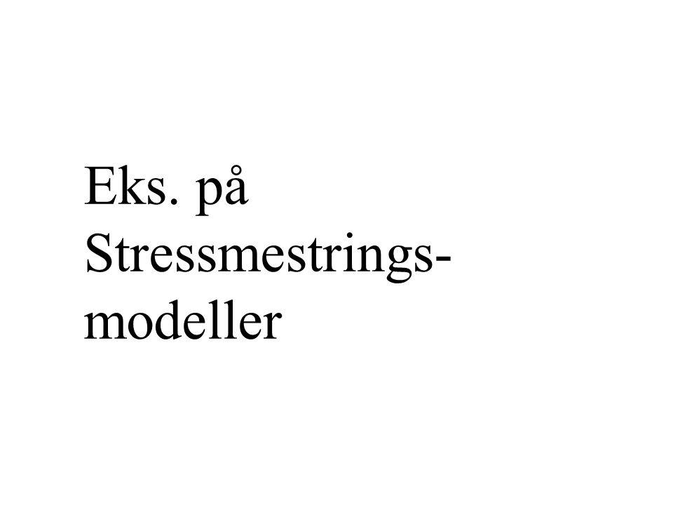 Eks. på Stressmestrings-modeller