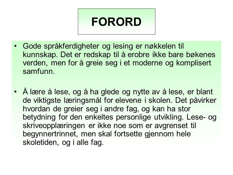 FORORD FORORD.