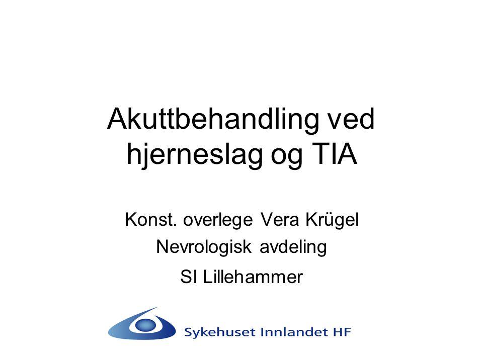 Akuttbehandling ved hjerneslag og TIA
