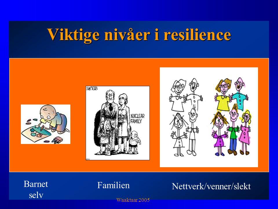 Viktige nivåer i resilience