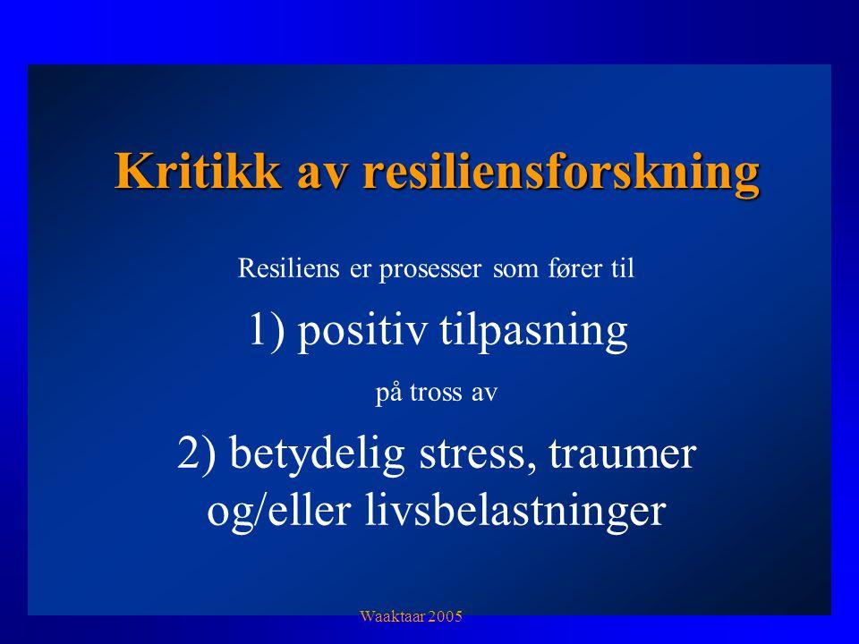 Kritikk av resiliensforskning