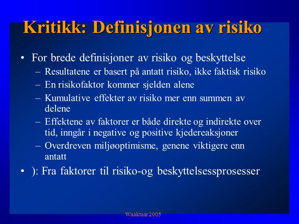 Kritikk: Definisjonen av risiko