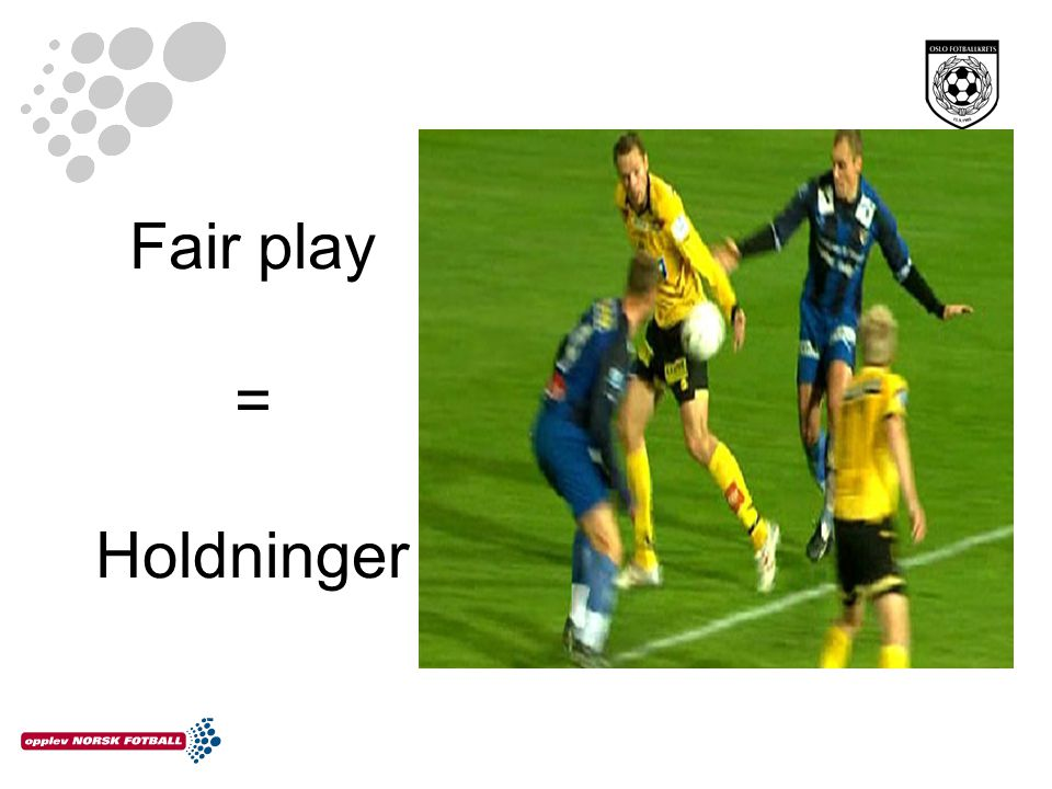 Fair play = Holdninger