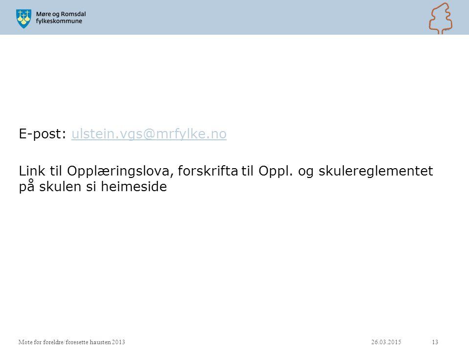 E-post: ulstein. vgs@mrfylke