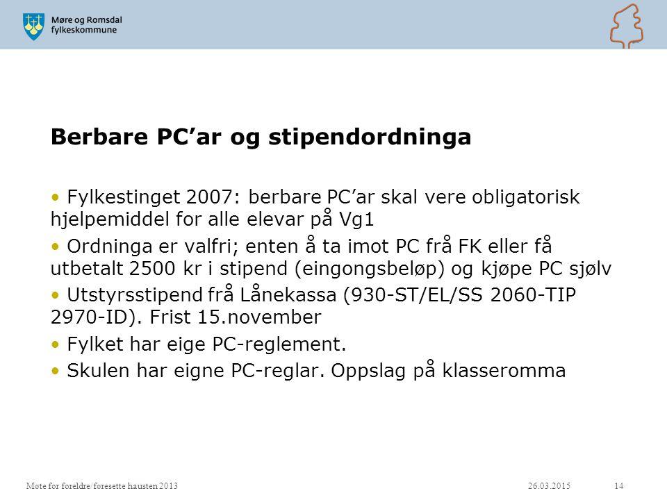Berbare PC'ar og stipendordninga