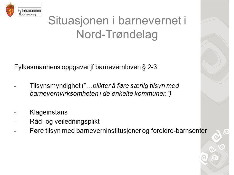Situasjonen i barnevernet i Nord-Trøndelag