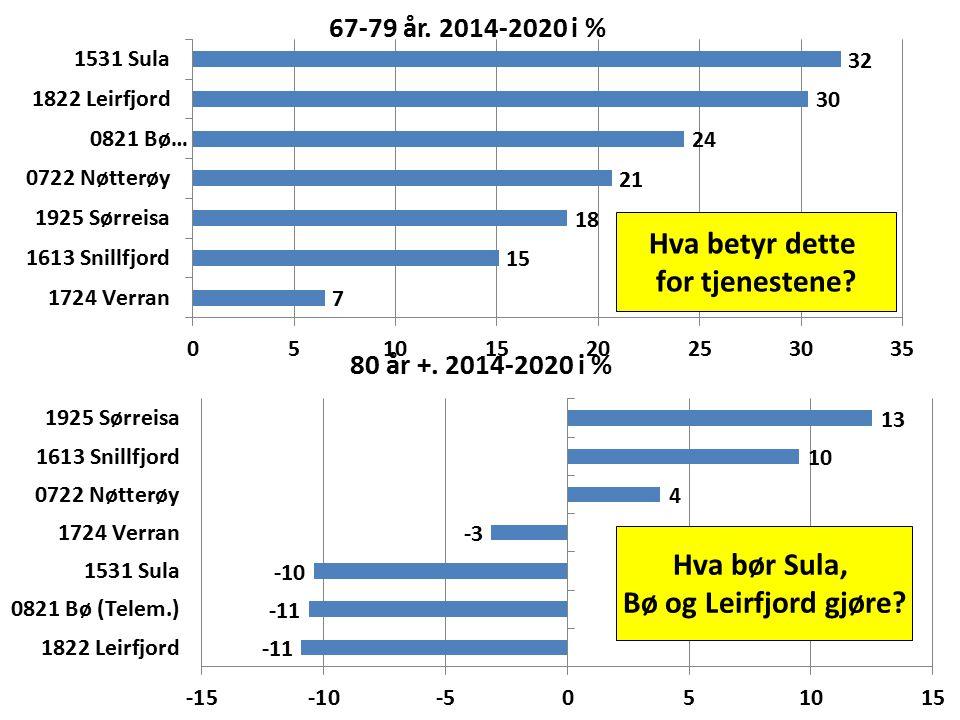 Hva betyr dette for tjenestene Hva bør Sula, Bø og Leirfjord gjøre