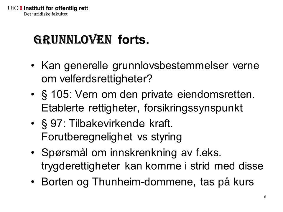 Grunnloven § 109