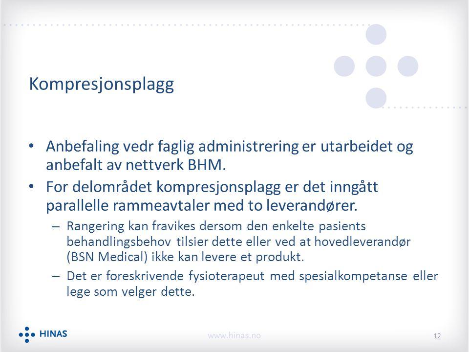 Kompresjonsplagg Anbefaling vedr faglig administrering er utarbeidet og anbefalt av nettverk BHM.