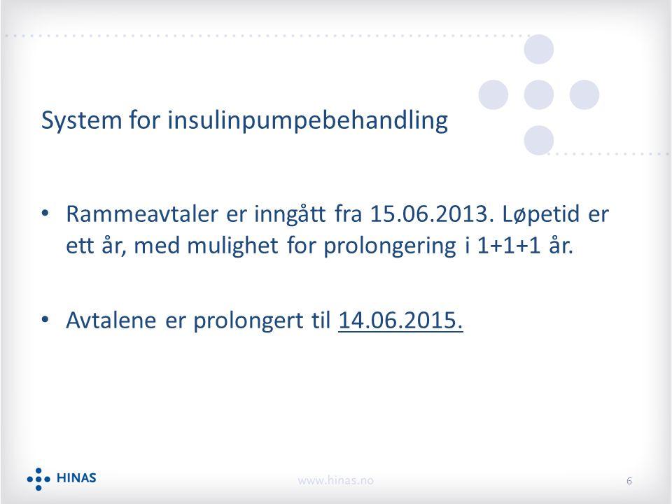 System for insulinpumpebehandling