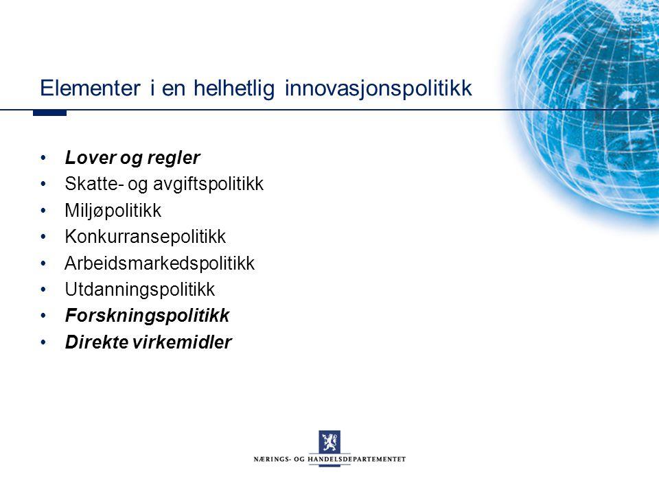 Elementer i en helhetlig innovasjonspolitikk