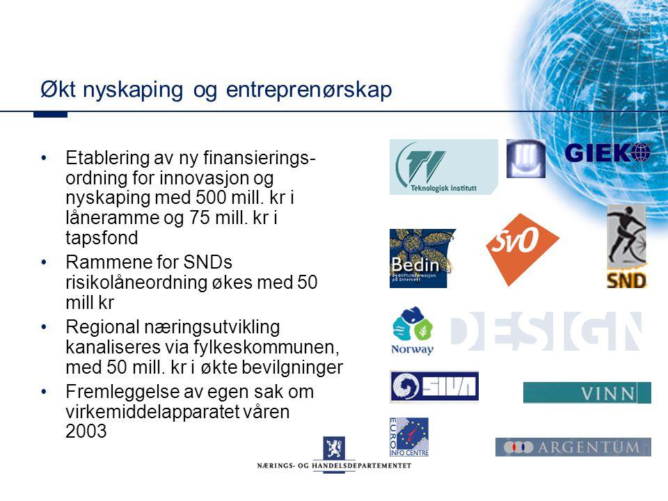 Økt nyskaping og entreprenørskap