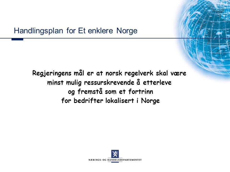 Handlingsplan for Et enklere Norge