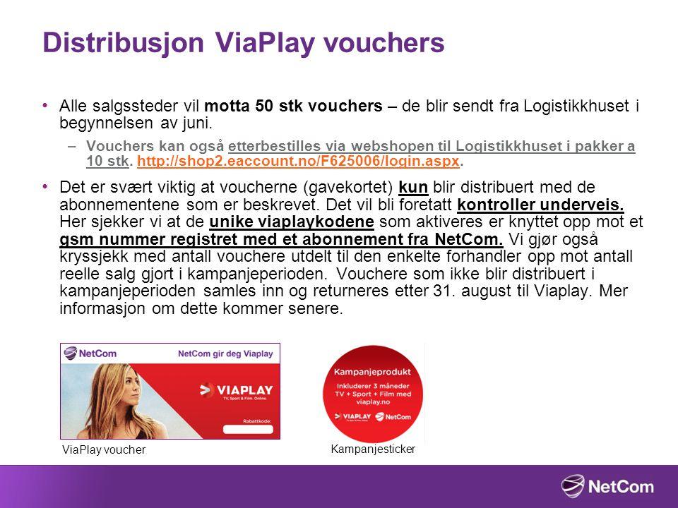 Distribusjon ViaPlay vouchers