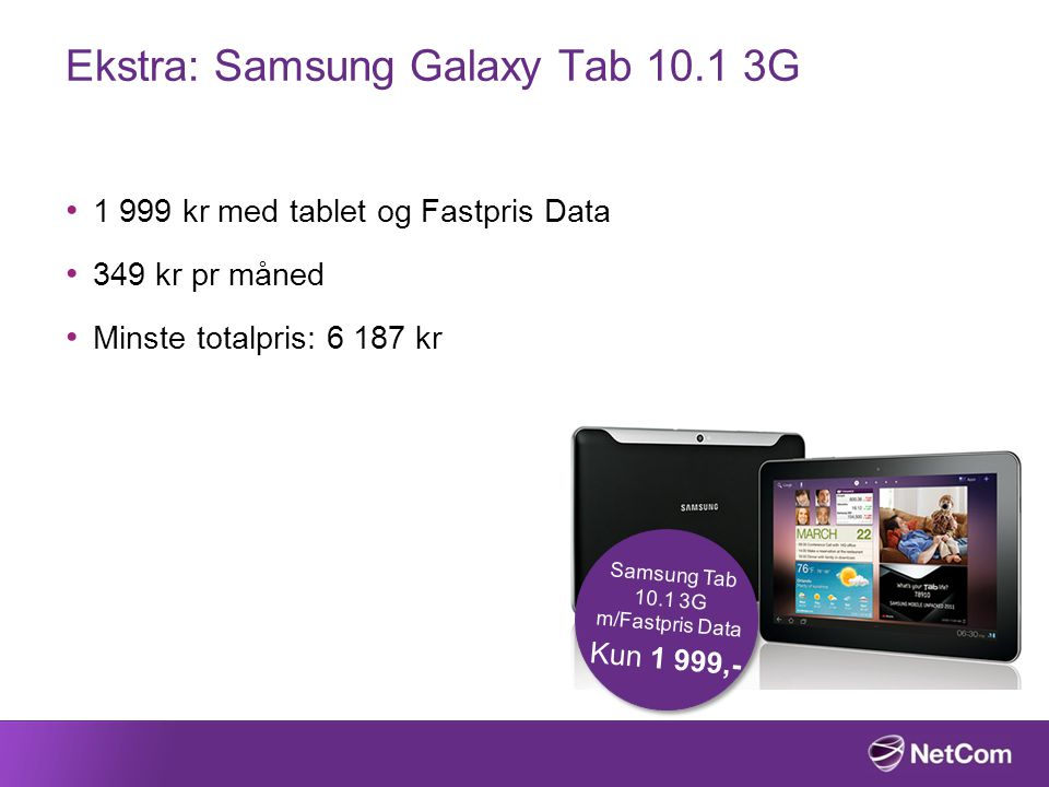 Ekstra: Samsung Galaxy Tab 10.1 3G