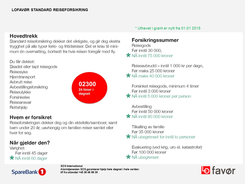 LOFAVØR STANDARD REISEFORSIKRING