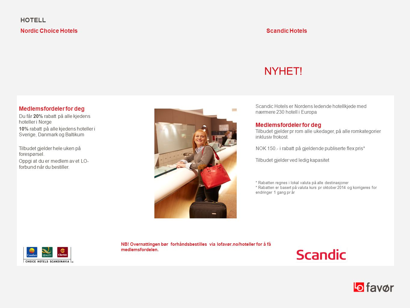 NYHET! hotell Nordic Choice Hotels Scandic Hotels