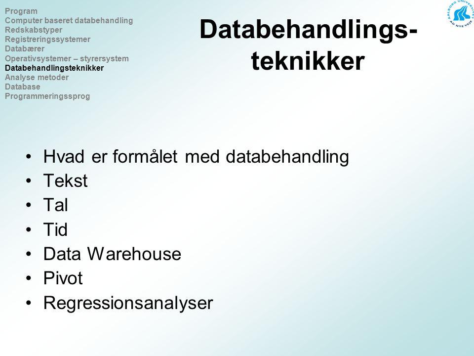 Databehandlings-teknikker