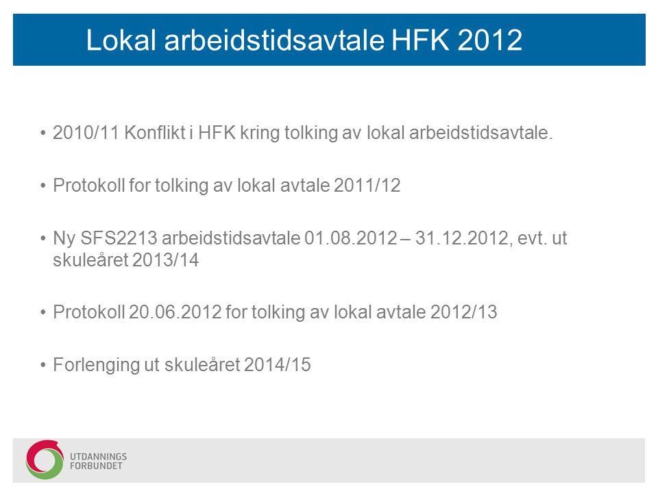 Lokal arbeidstidsavtale HFK 2012