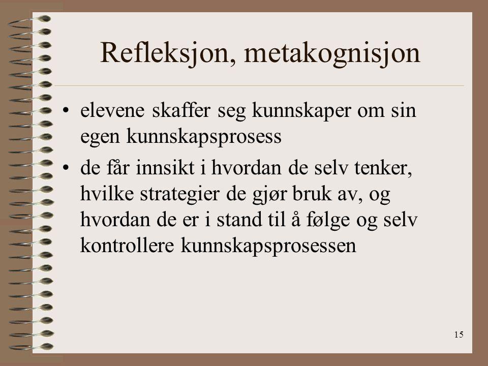 Refleksjon, metakognisjon