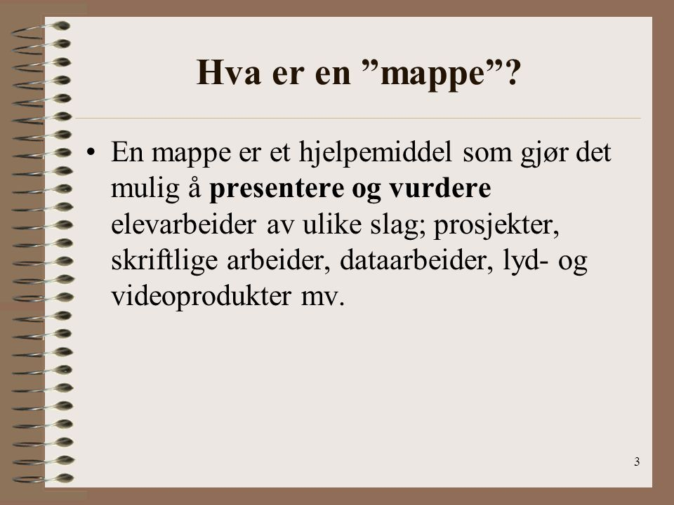 Hva er en mappe