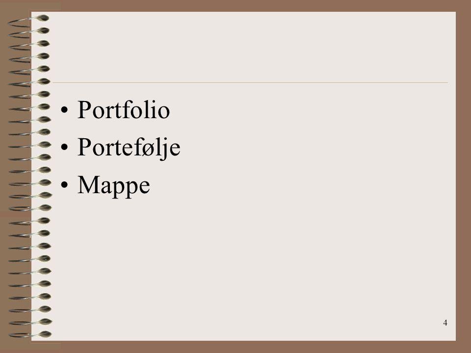 Portfolio Portefølje Mappe