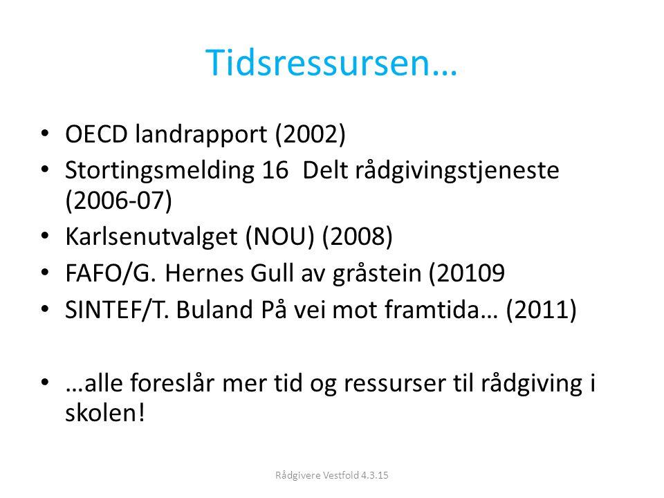 Tidsressursen… OECD landrapport (2002)