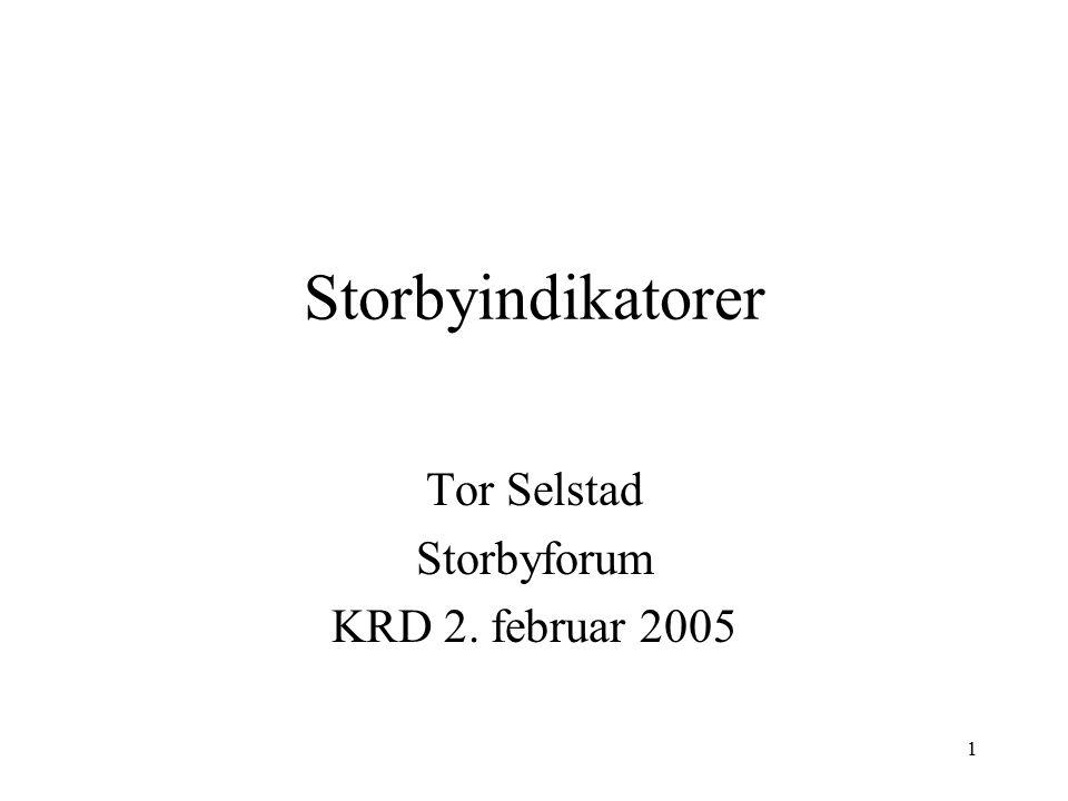 Tor Selstad Storbyforum KRD 2. februar 2005