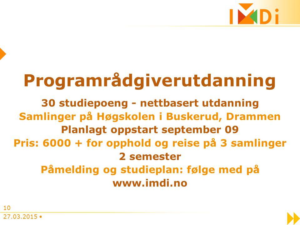 Programrådgiverutdanning