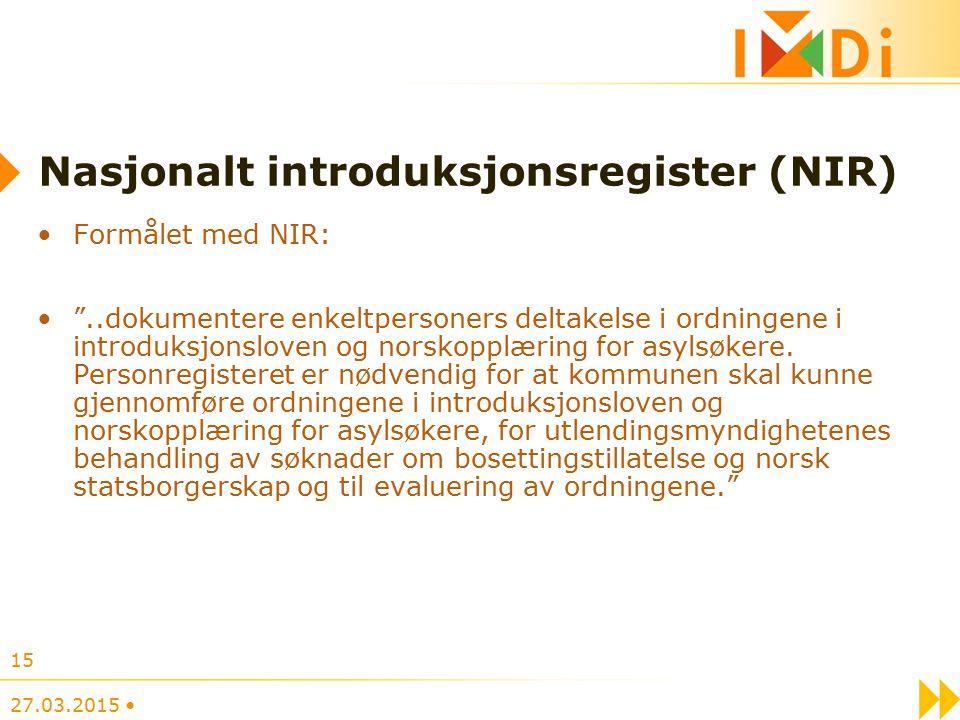 Nasjonalt introduksjonsregister (NIR)